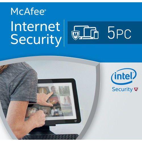McAfee Internet Security 2018 5 PC licencja na rok