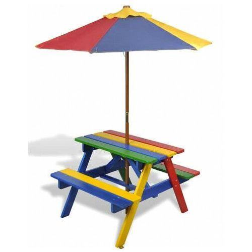 Kolorowy stół piknikowy dla dzieci - Loris, vidaxl_40773