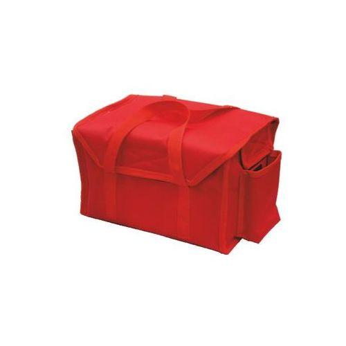 Furmis Torba wykonana z kodury na zupki, 12 x 0,3 l, czerwona z czarną lamówką   , zupki-12