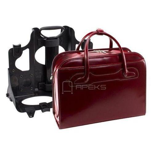 """McKlein Willowbrook damska skórzana torba na laptopa 17"""" / czerwona - czerwony"""