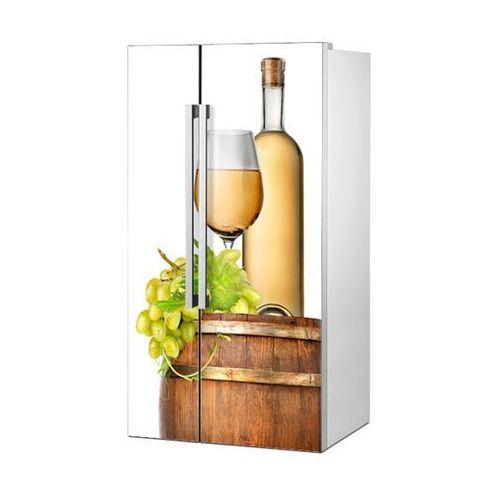 Stikero Mata magnetyczna na lodówkę side by side - białe wino i beczka 0720