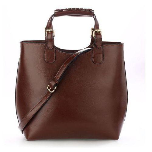 Wielka brytania Torebka damska shopper bag hit! ciemny brąz - brązowy (5057874005612)