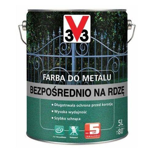 Farba do metalu bezpośrednio na rdzę matowy ciemny grafitowy 5 l marki V33