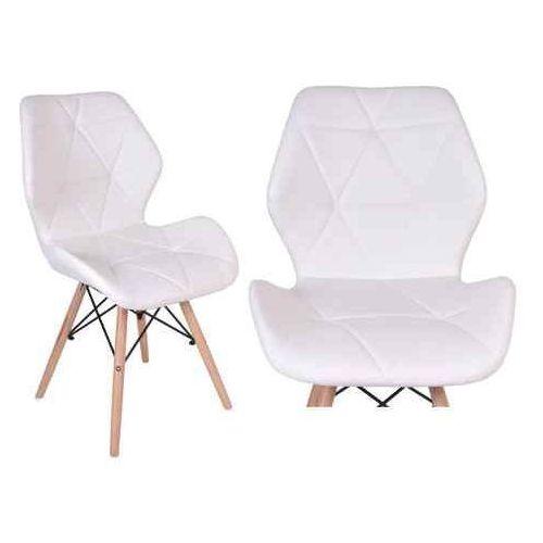 Krzesło tapicerowane Rennes - biały, kolor biały