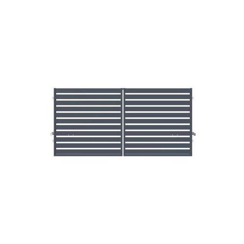 Brama dwuskrzydłowa SZAFIR 300 x 150 cm z automatem POLARGOS