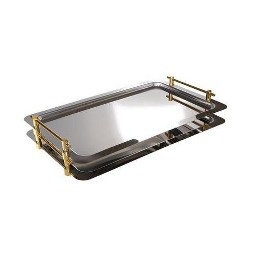 Aps Taca prostokątna do serwowania z uchwytami w kolorze złota gn 1/1 | 530x325mm
