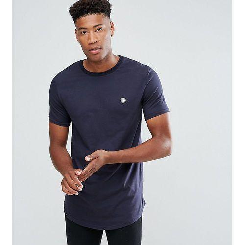 tall logline curved hem twill shoulder t-shirt - black marki Le breve