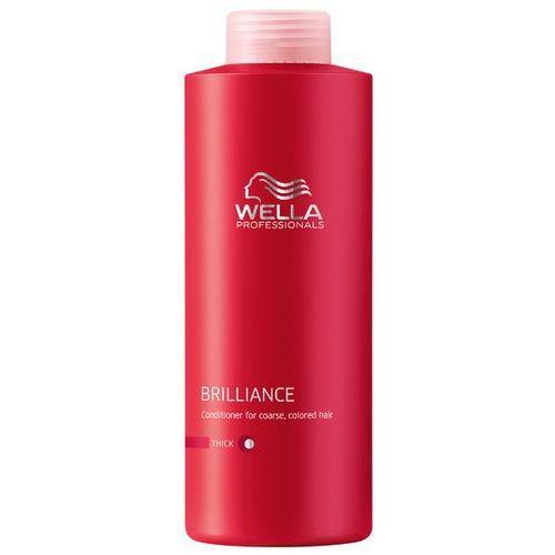 Wella  brilliance odżywka do grubych włosów farbowanych (thick) - 1000 ml