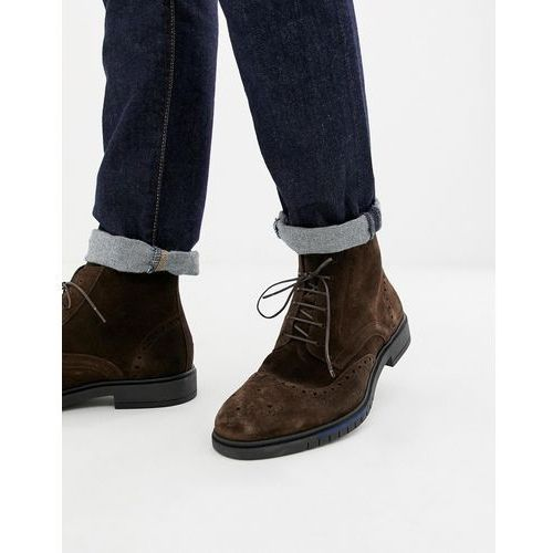 db36002f710fb flexible dressy brogue suede boot in bro... Producent Tommy Hilfiger