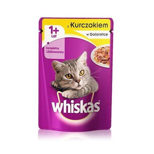kurczak w galaretce 100 g x 18 + 6 gratis - darmowa dostawa od 95 zł! marki Whiskas