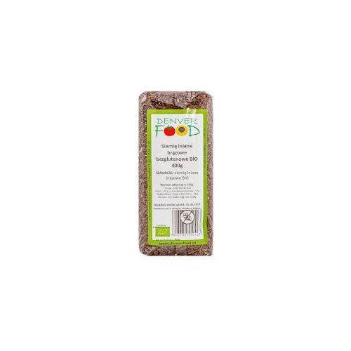 Siemię lniane bezglutenowe (len brązowy) bio 400g -  marki Denver food
