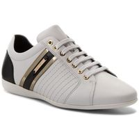 Versace Sneakersy collection - v900421 vm00318 v821h bianco/nero/oro