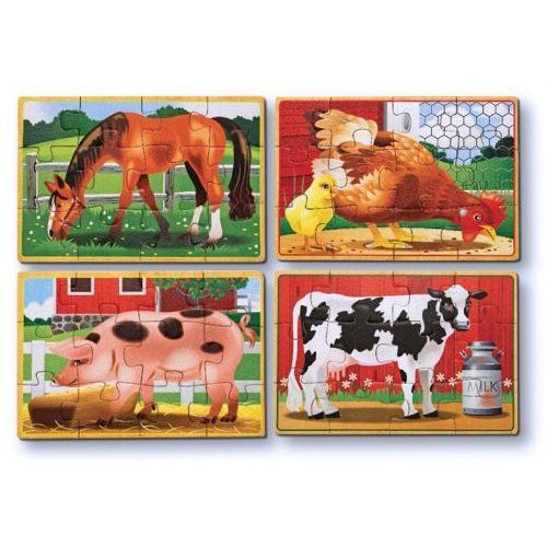 Melissa & doug Puzzle drewniane w pudełku - farma -melissa&doug