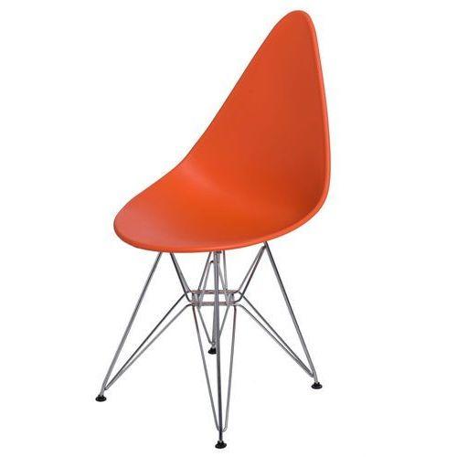Krzesło Rush DSR pomarańczowe, kolor pomarańczowy