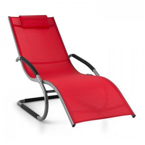 Blumfeldt sunwave leżak ogrodowy leżak relaksacyjny bujający aluminium czerwony