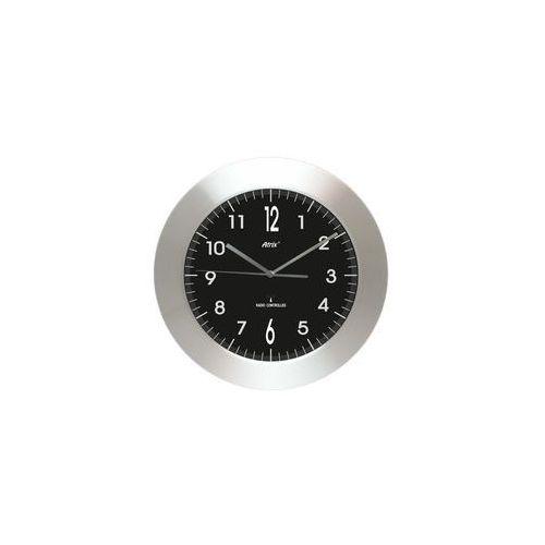 Zegar aluminiowy szeroka ramka radiowy DCF #3, AL2412ARC