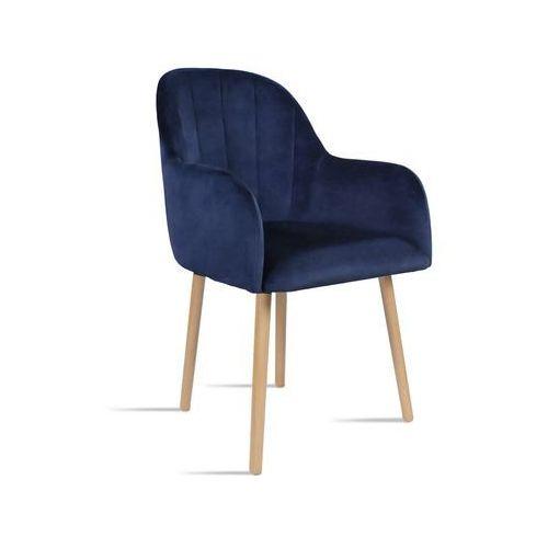 Krzesło BESSO granatowy/ noga dąb/ SO263