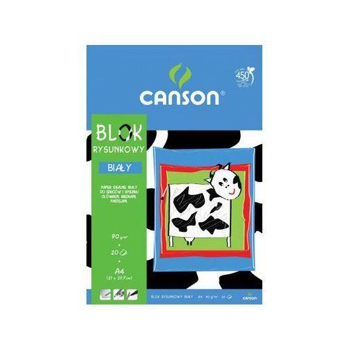 Blok rysunkowy Canson A4/20k. 6666117 biały
