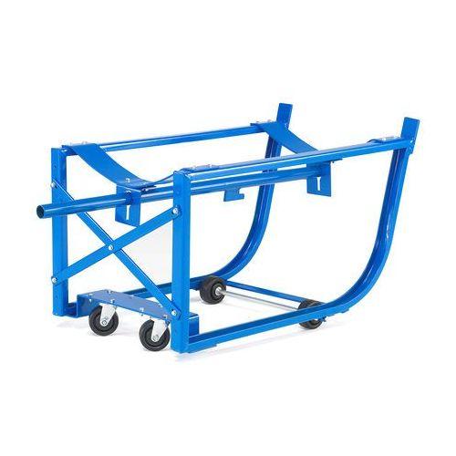 Mobilny stojak na beczki, obciążenie 300 kg, niebieski
