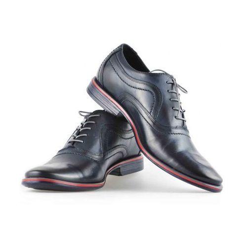 Pantofle Pan 726 Ciemny Granat + czerwony