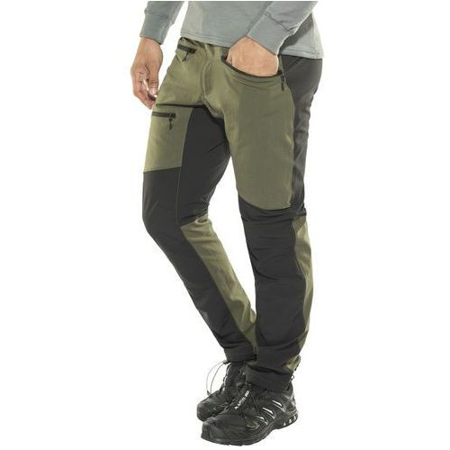 rugged flex spodnie długie mężczyźni oliwkowy xxl 2018 spodnie turystyczne marki Haglöfs