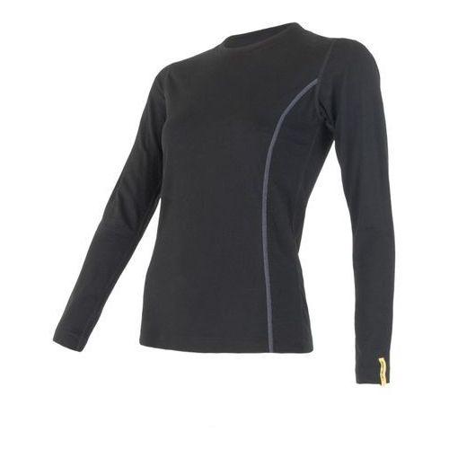 Sensor koszulka termoaktywna z długim rękawem merino wool active w black s (8595233889314)
