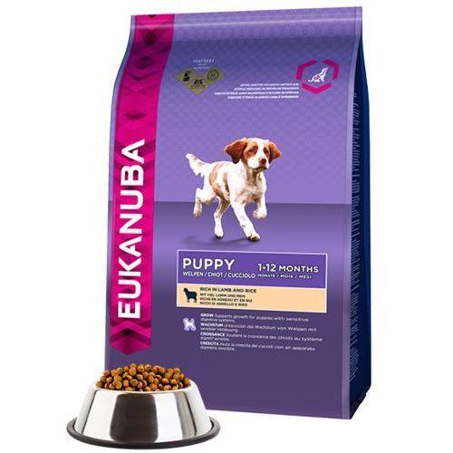 Eukanuba puppy&junior lamb&rice 2x12kg dwu-pak