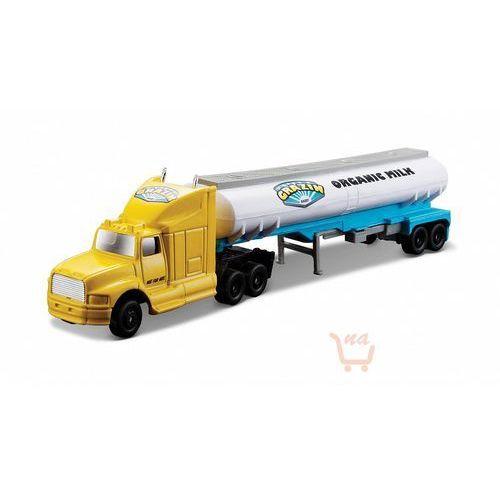 Maisto highway haulers – ciężarówka z naczepą (cysterna) kolor zółto-biały