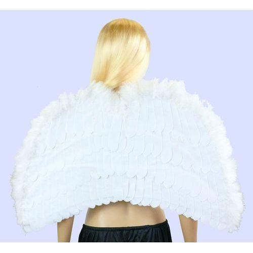 Skrzydła aksamitne anioła białe - 76 x 53 cm - 1 szt. marki Go