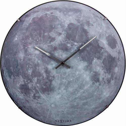 Nextime - zegar ścienny moon dome - szary