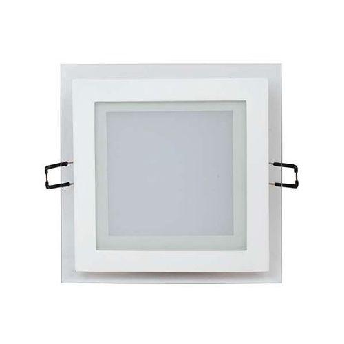 Ideus Oczko lampa sufitowa hl685lg 02587 podtynkowa oprawa metalowa led 12w kwadratowy wpust minimalistyczny biały (5901477325878)