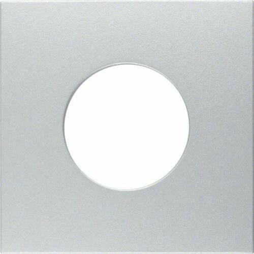 Berker b.kwadrat/b.7 płytka czołowa do łącznika i sygnalizatora świetlnego e10, alu 11241404