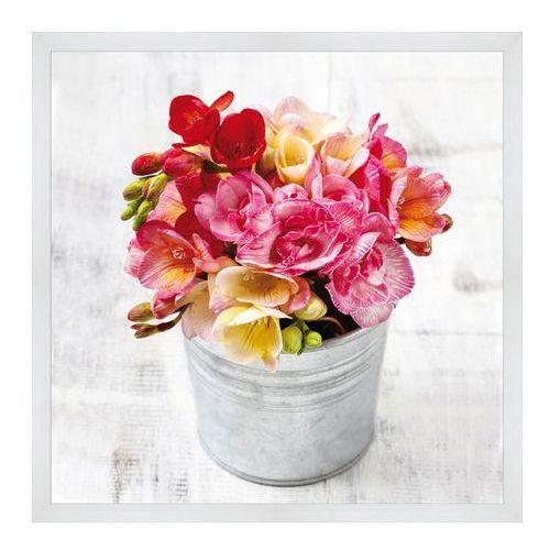 Obraz Kwiaty w wiaderku 30 x 30 cm (5901554524248)