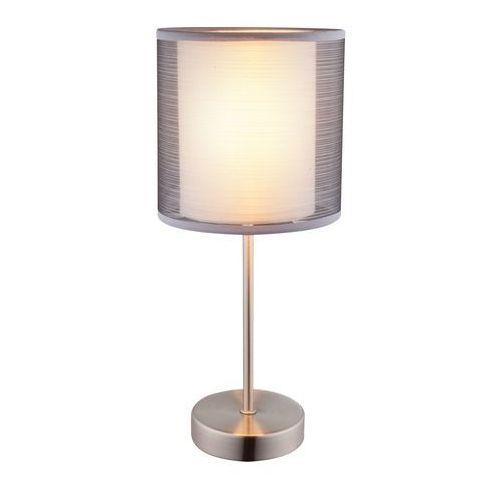 Lampa stołowa lampka theo 1x40w e14 szara / satyna 15190t marki Globo