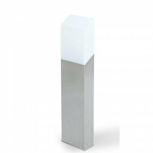 FLAT Srebrny LED 8W wys. 45cm. IP44 3000K Lampa ogrodowa stojąca Lutec 7005201001, 7005201001