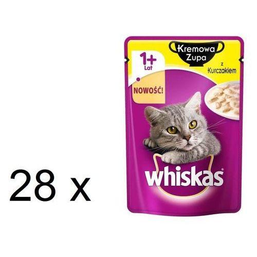 Whiskas kremowa zupa z kurczakiem - saszetka 28x85g