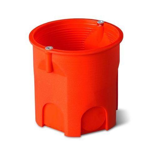 Elektro-plast nasielsk Puszka podtynkowa 60mm głęboka z wkrętami pomarańczowa pk-60 lux 0206-51