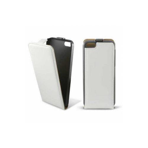 KSIX Etui FLIP UP skórzane dedykowane do Apple iPhone 5C - białe Odbiór osobisty w ponad 40 miastach lub kurier 24h, kup u jednego z partnerów