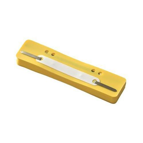 Wąsy skoroszytowe Q-CONNECT, PP, z metalową blaszką, 25szt., żółte, 2012500210