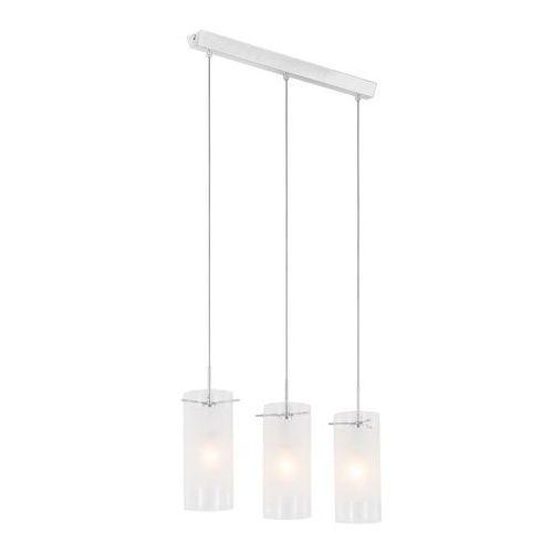 Lampa wisząca blend mdf9489/3 szklana oprawa zwis listwa sufitowa tuby przezroczyste białe marki Italux