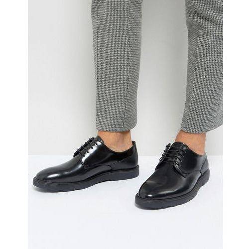 Silver street high shine lace up shoes in black - black