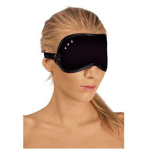 Elegancka maska na oczy z diamencikami czarna 6420 marki Roxana