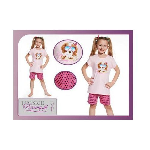 Piżama dziecięca SUMMER: róż, kolor różowy