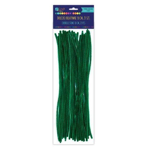 Dalprint Druciki kreatywne ciemno-zielone 30 cm (25 szt.) ksdr-024
