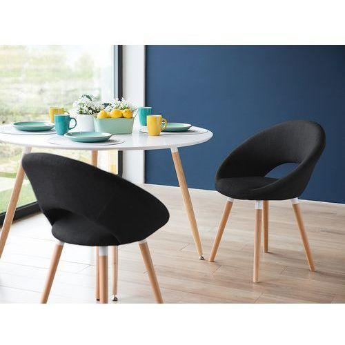Krzesło antracytowoszare - do jadalni - kuchenne - do salonu - ROSLYN, kolor szary