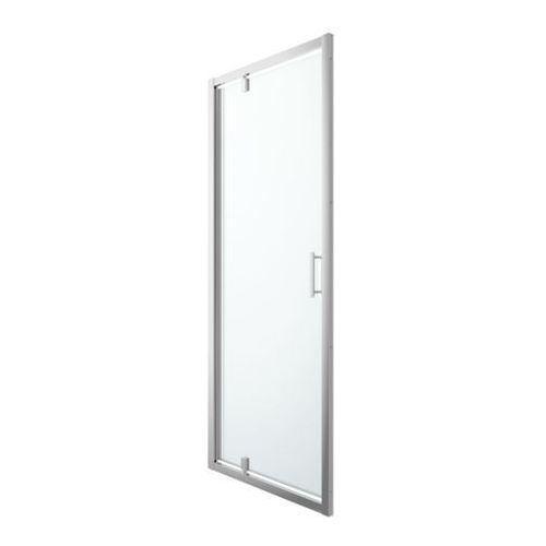Drzwi prysznicowe wahadłowe Cooke&Lewis Beloya 90 cm chrom/transparentne