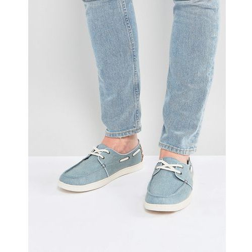 Toms culver boat shoes in blue - blue