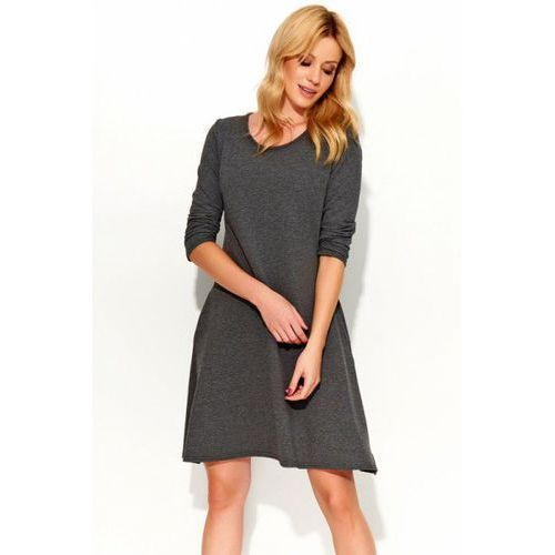 Sukienka Model M375 Dark Grey, kolor szary