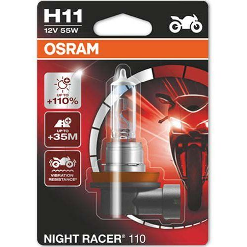 Osram® Żarówka do motocykla h11 night racer® 110 | blister 1 szt.