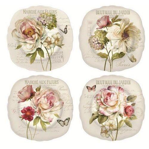 - zestaw 4 deserowy talerz z porcelany w opakowaniu marki R2s